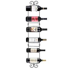 wine rack six bottle wall mounted wine