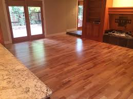 american cherry wood floor in living room