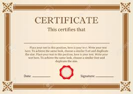Certificate Of Completeion Certificate Or Diploma Of Completion Design Template With Borders