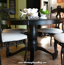48 round black farmhouse style pedestal table worthingcourtblog com