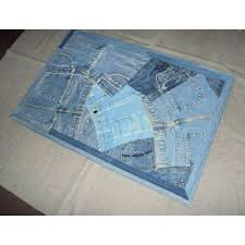 denim rugs recycled jeans