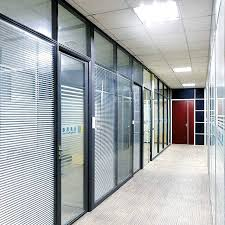 china double glass partition office
