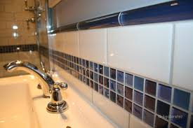 door sill in wood bathroom mosaic border with bullnose