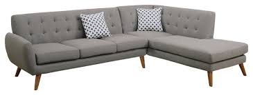 Retro Modern Sofa Sectional Gray Midcenturysectionalsofas Houzz Inside Impressive Ideas