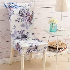 4pcs big flower print elastic dining chair covers spandex stretch kitchen chair protector cover for chairs