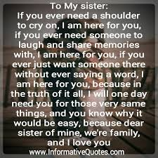 I Love You Sister Quotes Magnificent I Love My Sister Quotes Enchanting Best 48 I Love You Sister Ideas