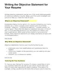 How To Write An Objective For A Resume Extraordinary General Objectives For Resumes Example Objective For Resume Example