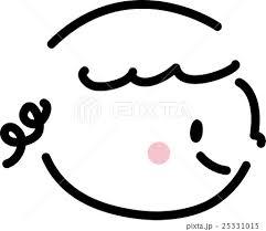 子供 笑顔 横顔 女の子 シンプルイラストのイラスト素材 25331015 Pixta