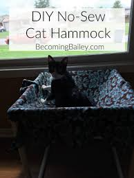 diy no sew cat hammock becoming bailey interesting ideas