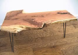 live edge cedar coffee table on raw