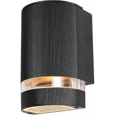 helios single light up or down external wall ing in a black finish
