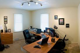 home office workspace. panoramic home office workspace n