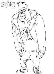 Sing Coloring Pages Kids N Fun 31 Coloring Pages Of Sing Wolf