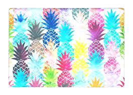 hawaiian outdoor rug new outdoor rug floor mat watercolor pop art pineapple tropical summer style print