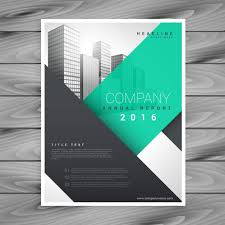 Useful And Modern Flyer With Geometric Shapes Vector Free Download