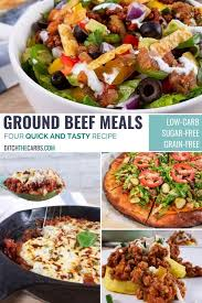 1 pound ground beef, salt and pepper. Cook Once Serve 4 Times Low Carb Ground Beef Meal Prep Video