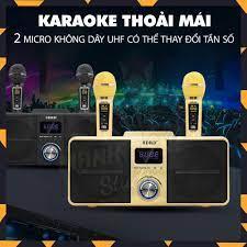 Loa karaoke bluetooth SD 309 - Loa mắt cú cao cấp nhất - Tặng kèm 2 micro  không dây có màn hình LCD - Sạc pin cho micro ngay trên loa -