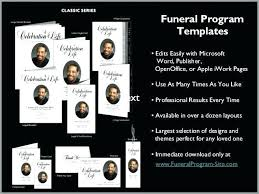 Microsoft Publisher Program Template Funeral Template Publisher