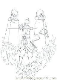 Sasuke Coloring Pages Vs Coloring Pages Naruto Vs Sasuke Coloring