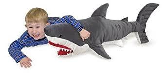 Melissa & Doug Giant Shark - Lifelike Stuffed Animal (over 3 feet long)
