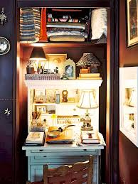 Home office closet ideas Small Closet Office Space Doragoram 15 Closets Turned Into Spacesaving Office Nooks