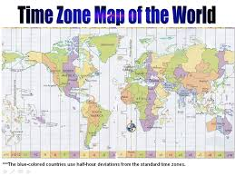 Time Map Time Zone Map Durand Land