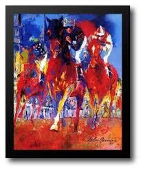 cky derby 26x38 framed art print by neiman leroy