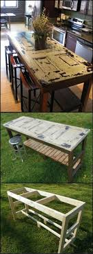 the would be carpenters out there will have no problem turning their old doors into kitchen islands