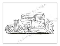 Small Picture This Listing is for a printable classic hot rod coloring page
