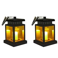 Flameless Candle Plug In Night Light Amazon Com Solar Candle Lantern Waterproof Led Flickering