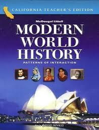 Pattern Of Interaction Inspiration World History Patterns Of Interaction California Teacher Edition