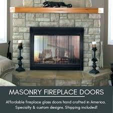 fireplace glass doors burning wood blower door installation instructions fireplace glass doors