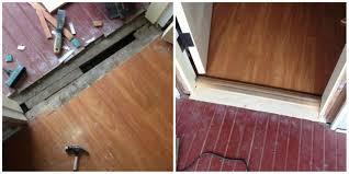 laminate flooring exterior door transition high transition inside front door wood threshold