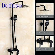 black shower faucet rubbed bronze black shower set faucet matte black shower head all copper dual