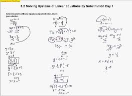 5 2 solving systems of linear equations by substitution day 1