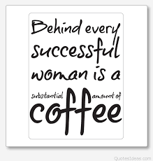 funny woman joke with coffee
