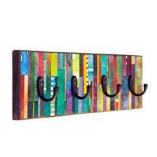 Vertical Wall Coat Rack Wall Coat Rack Mosaic Handmade Paper Vertical Colorful Stripes 70
