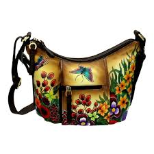 niarvi luxury hand painted leather handbag