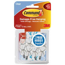 command small clear wire hooks with clear strips 9 pack 17067clrvp the home depot