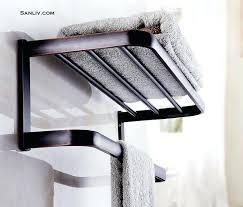 towel rack shelf hotel style chrome and bathroom bar16 towel
