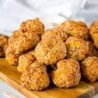 cheesy sausage meatballs