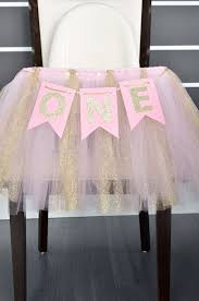 pink and gold year banner high chair banner birthday banner photo prop first birthday banners gold and