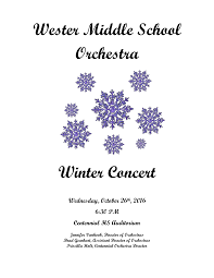 Wester Middle School Orchestra Winter Concert