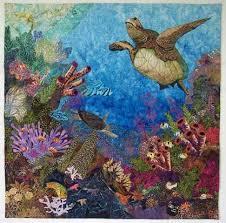 16 best Seascape art quilts images on Pinterest   Ocean quilt ... & Seascape Art Quilt