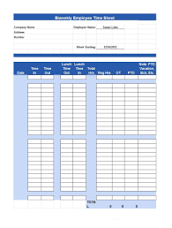 Employee Time Sheets Excel 40 Free Timesheet Time Card Templates Template Lab