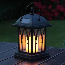 hanging solar patio lights. Festive Lights Garden Candle Lantern - Solar Powered Flickering Effect Amber LED 27cm: Amazon.co.uk: \u0026 Outdoors Hanging Patio