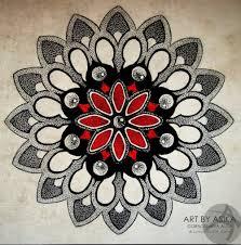 цветной эскиз тату мандалы Fan Art татуировка мандала