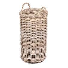 round tapered wicker basket homebase