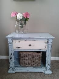 coastal chic furniture. Shabby Chic Coastal Blue/ Off White End Table/ Night By 2ndEssence, $85.00 Furniture