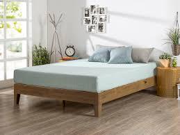 rustic pine deluxe solid wood platform bed  zinus